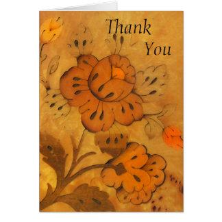 Las flores de oro del embutido le agradecen cardar tarjetas