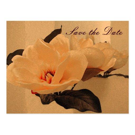 Las flores de seda ahorran la fecha postales