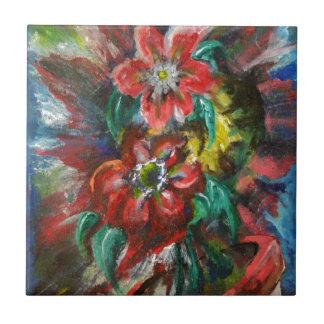 Las flores de Sophia Azulejos