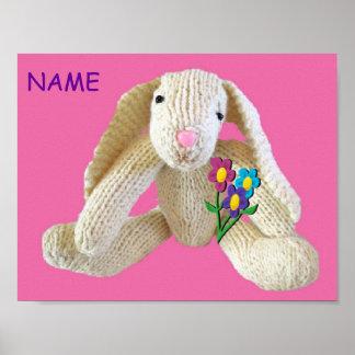 Las flores del conejo de conejito personalizaron a