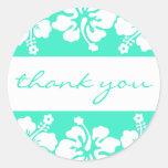 Las flores del hibisco le agradecen etiquetar (el