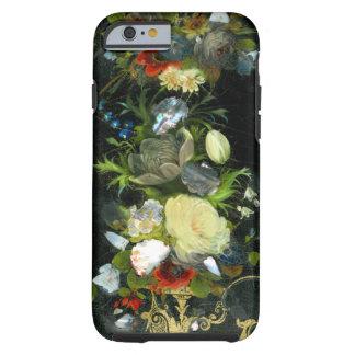 Las flores del Victorian embutieron nacarado Funda Resistente iPhone 6