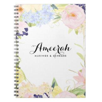 Las flores en colores pastel de la primavera cuadernos