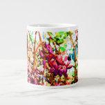 las flores florales abstractas del cactus invierte taza extra grande