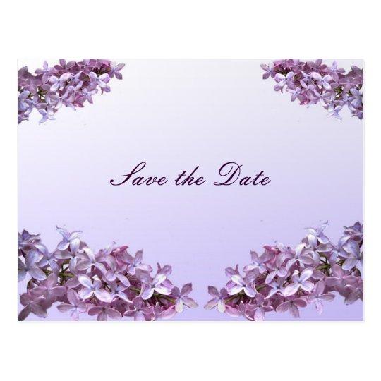 Las flores florales de la lila ahorran la fecha postal