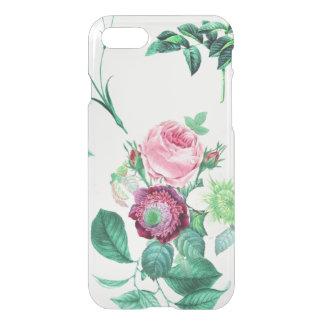 Las flores florales del vintage claro subió el funda para iPhone 7