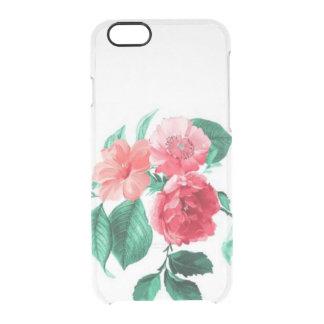 Las flores florales del vintage claro subió rosas funda clearly™ deflector para iPhone 6 de uncommon