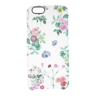 Las flores florales del vintage subió el modelo funda clearly™ deflector para iPhone 6 de uncommon