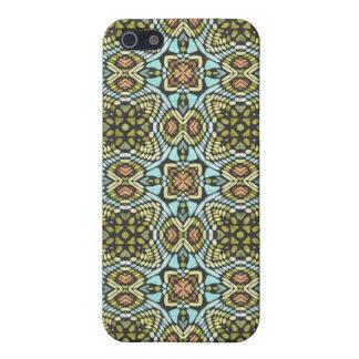 Las flores florales tribales coloridas tejen marav iPhone 5 fundas