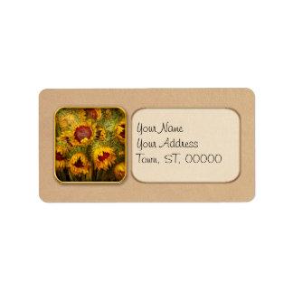 Las flores - girasoles - usted es mi solamente sol etiqueta de dirección