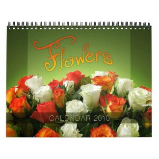 Las flores hacen calendarios 2010