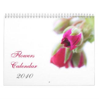 Las flores hacen calendarios, 2010 calendario de pared