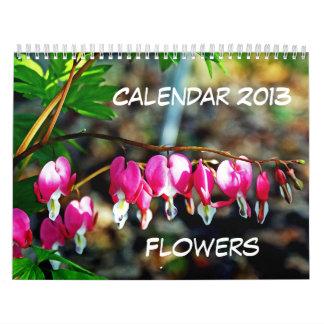 Las flores hacen calendarios 2013