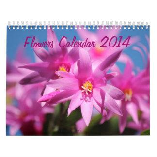 Las flores hacen calendarios 2014