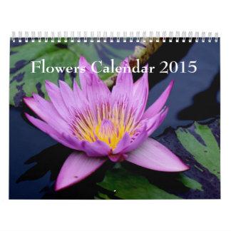 Las flores hacen calendarios 2015