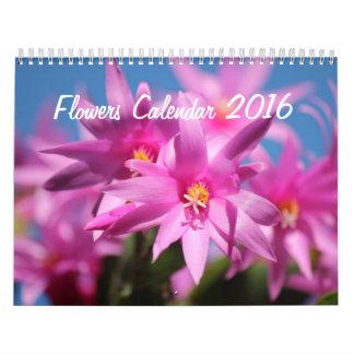 Las flores hacen calendarios 2016