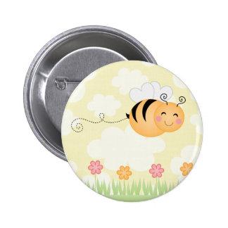 Las flores lindas de la abeja y de la colmena del  pin