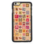 las flores lindas, pájaros, corazones ajustan el funda de arce carved® para iPhone 6 plus slim