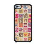 las flores lindas, pájaros, corazones ajustan el funda de iPhone 5C slim arce