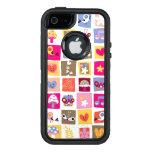las flores lindas, pájaros, corazones ajustan el funda otterbox para iPhone 5/5s/SE