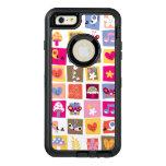 las flores lindas, pájaros, corazones ajustan el funda otterbox para iPhone 6/6s plus