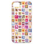 las flores lindas, pájaros, corazones ajustan el funda para iPhone 5 barely there