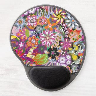 Las flores magníficas multan el estampado de alfombrilla gel