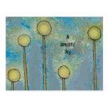 Las flores modernas del arte abstracto de la diver postales