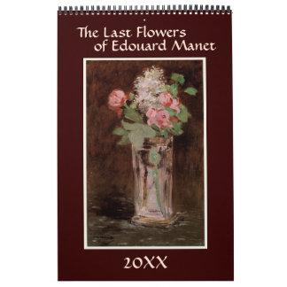 Las flores pasadas de Eduardo Manet Calendario