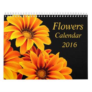 Las flores, personalizado imprimieron el calendario de pared