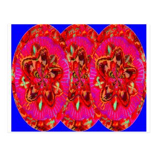 Las flores pican de las paredes del templo tarjetas postales