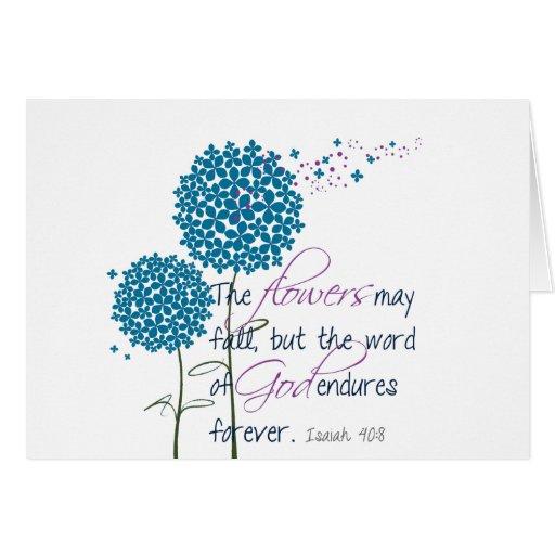 Las flores pueden caer… tarjeta de felicitación