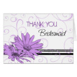 Las flores púrpuras le agradecen tarjeta de la dam