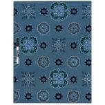 Las flores retras azules secan al tablero del borr tableros blancos