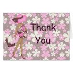 Las flores retras le agradecen Notecard (el AA ros Tarjeton