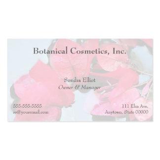 las flores rosadas en agua se descoloran tarjeta d tarjeta de visita