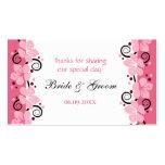 Las flores rosadas que casan etiquetas del regalo  plantillas de tarjeta de negocio