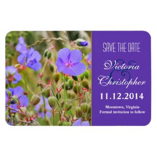 las flores salvajes azules elegantes ahorran los imanes de vinilo