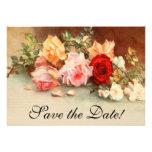 Las flores subiós antigüedad del boda del vintage  invitación personalizada