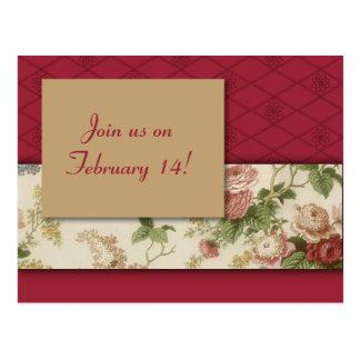 Las flores y el modelo rojo ahorran la fecha postales