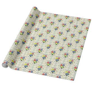 Las flores y la cocina de los puntos Wallpaper CA Papel De Regalo