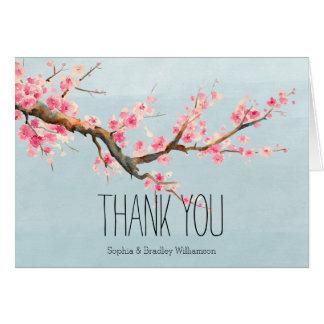 Las flores y los pájaros de la flor de cerezo le tarjeta pequeña