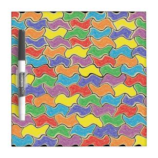 Las fluctuaciones coloridas secan al tablero del pizarras blancas de calidad