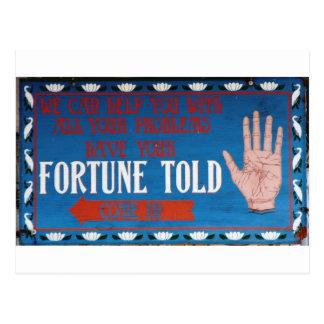 Las fortunas dijeron tarjeta postal