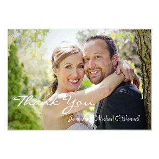 """Las fotos del boda le agradecen la tarjeta 3,5 x 5 invitación 3.5"""" x 5"""""""