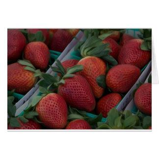 Las fresas esconden dentro tarjeta de felicitación