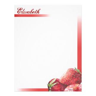 Las fresas frescas personalizaron inmóvil membrete