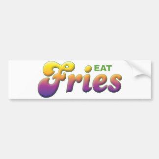 Las fritadas, comen pegatina de parachoque