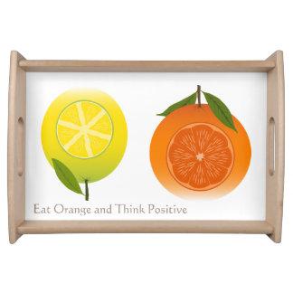 Las frutas anaranjadas adietan arte moderno bandeja