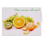 Las frutas consiguen pronto la tarjeta bien